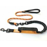 Tropical Petland Premium 3 in 1 Strong Dog Lead - 3.5 Foot Rope Lead ORANGE/ BLACK